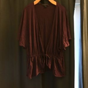 Express Plum Shrug